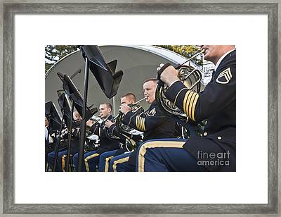 Musicians Performing Framed Print by Inga Spence