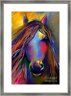 Mustang Horse Painting Framed Print