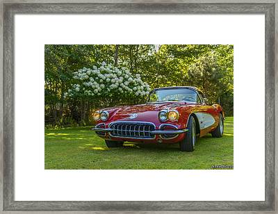 My 1960 Corvette Framed Print