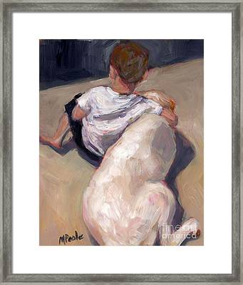 Framed Print featuring the painting My Beau by Molly Poole