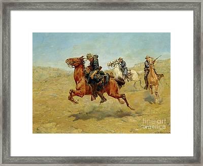 My Bunkie, 1899 Framed Print by Charles Schreyvogel