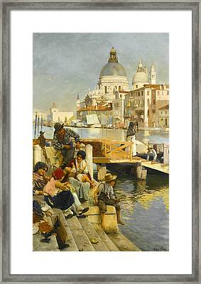 My Ferry Framed Print by Henry Woods