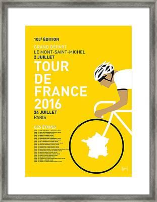 My Tour De France Minimal Poster 2016 Framed Print