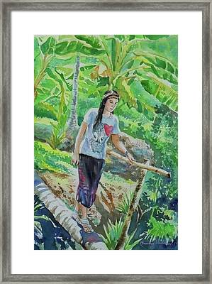 My Good Memories In Ampawa Garden Framed Print