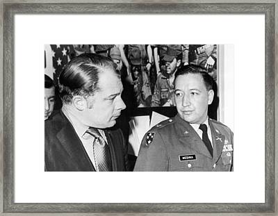 My Lai Massacre Inquiry Framed Print by Underwood Archives