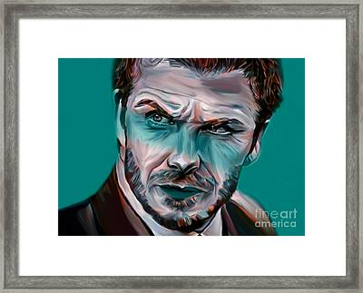 My Name Is David Beckham  Framed Print