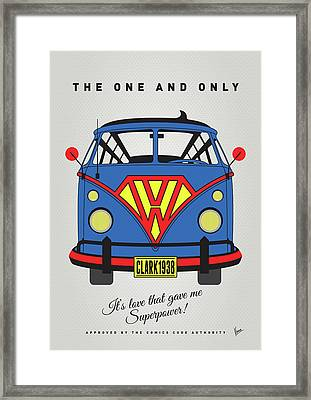 My Superhero-vw-t1-superman Framed Print