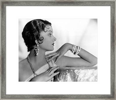 Myrna Loy, Fox, 1931 Framed Print