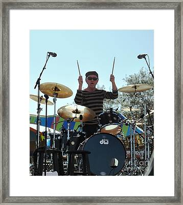 Myron Grombacher - Pat Benater Band Framed Print by John Black