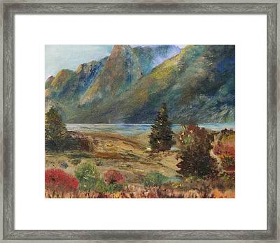 Mysterious Yosemite Valley Framed Print by Trilby Cole