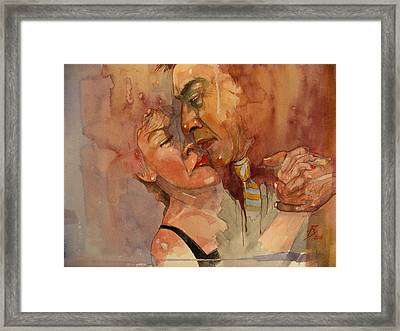 Nadia In Black Framed Print by Ray Agius
