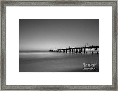 Nags Head Fishing Pier Sunrise Framed Print by Michael Ver Sprill