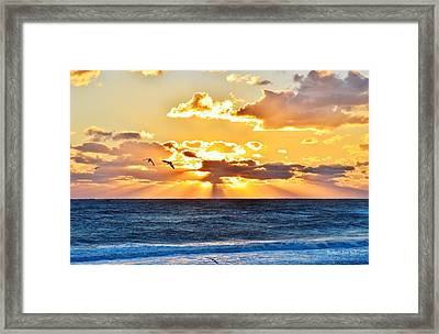 Nags Head Sunrise  Framed Print