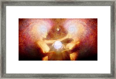 Framed Print featuring the painting Namaste by Robby Donaghey