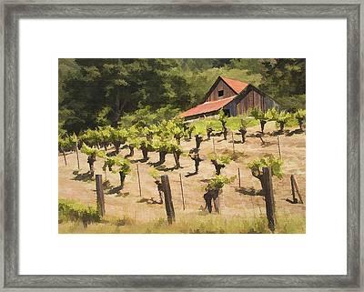 Napa Barn Framed Print