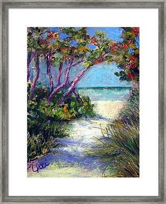 Naples On Third Framed Print by Laurie Paci