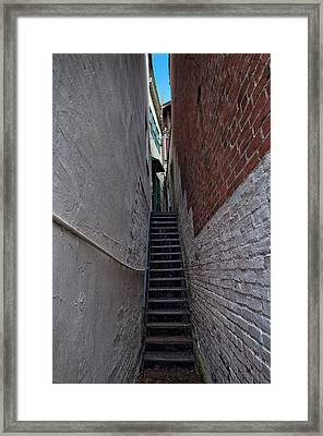 Narrow Stairs Framed Print
