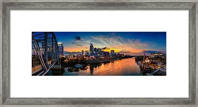 Nashville Skyline Panorama Framed Print