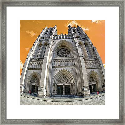 Framed Print featuring the photograph National Cathedral by Mitch Cat