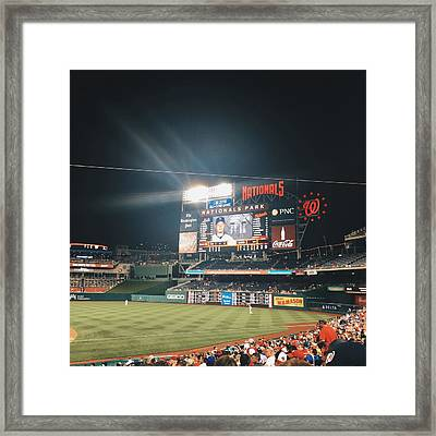 Nationals Game Framed Print by Terence Daniels