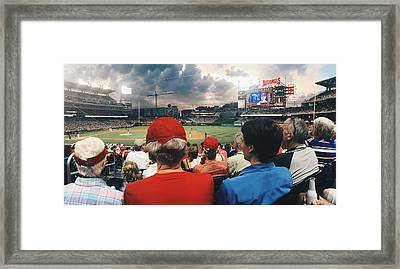 Nationals Game View  Framed Print by Terence Daniels