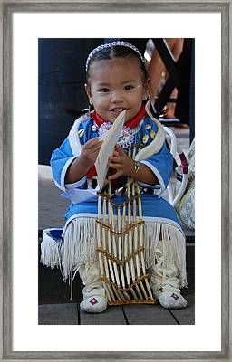 Native American Baby Girl Framed Print