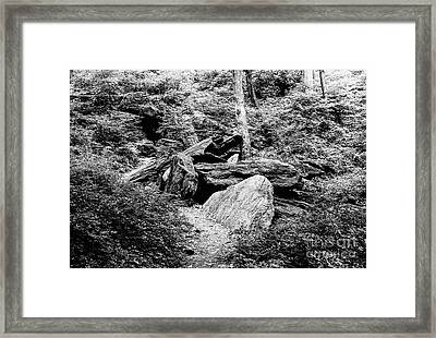Native American Caves  Framed Print