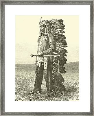 Native American  Framed Print by French School