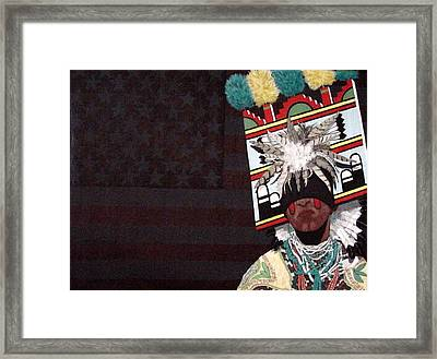 Native Dancer Framed Print by Bernard Goodman