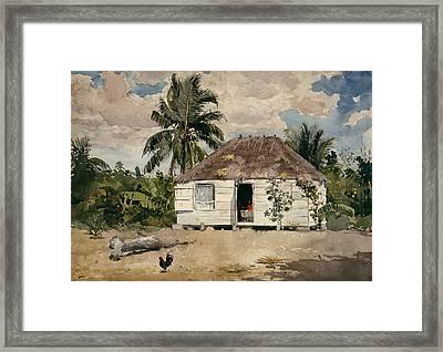 Native Huts - Nassau Framed Print