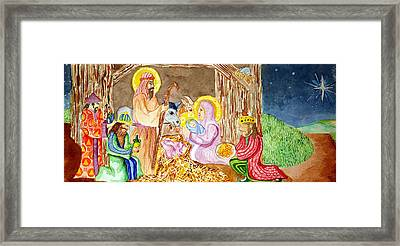 Nativity Framed Print by Jame Hayes