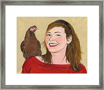 Natty And Me Framed Print by Twyla Francois