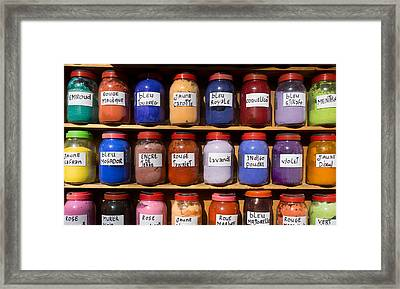 Natural Dyes For Sale In The Medina Framed Print by Panoramic Images