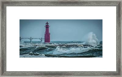 Nautical Turbulence Framed Print