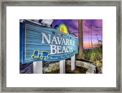 Navarre Beach Framed Print by JC Findley