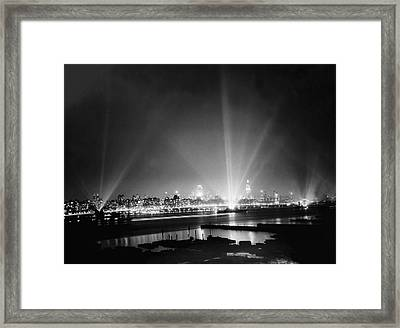 Navy Day In New York Framed Print by Underwood Archives