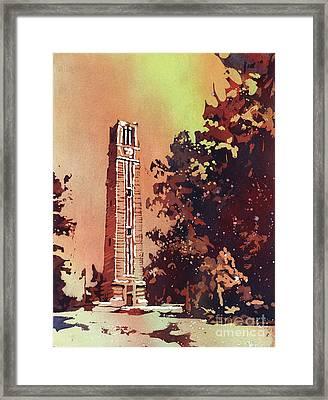 Ncsu Bell-tower Framed Print