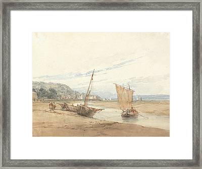 Near Honfleur Framed Print by Richard Parkes Bonington