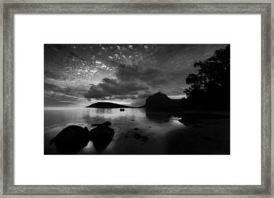 Framed Print featuring the photograph Near Le Morne by Julian Cook