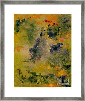 Framed Print featuring the painting Nebula by Karen Fleschler