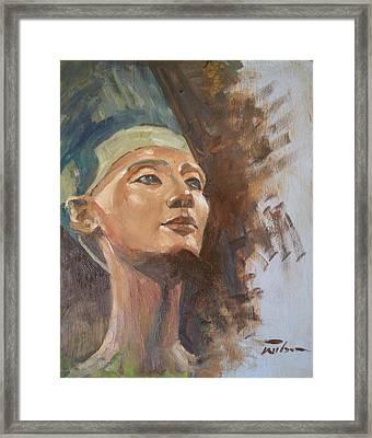 Nefertiti Framed Print by Ron Wilson