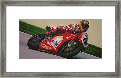 Neil Hodgson - Ducati World Superbike Framed Print by Jeff Taylor