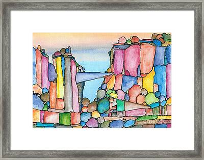 Neon Rockies Version 2 Framed Print by Janet Hinshaw