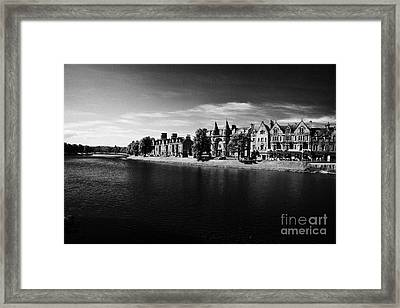 Ness Walk By River Ness Flowing Through Inverness City Highland Scotland Uk Framed Print by Joe Fox