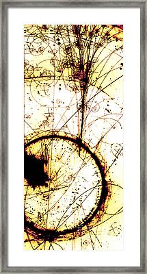 Neutrino, Bubble Chamber Event Framed Print by Science Source
