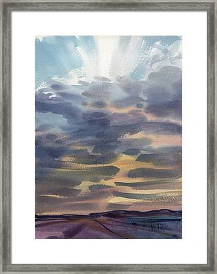 Nevada Sunset Framed Print by Donald Maier
