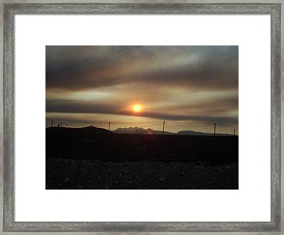 Nevada Sunset Framed Print by Patricia  Williams