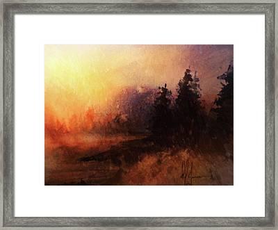 Morning Haze Framed Print by Dwayne Jensen