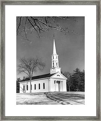New England Church Framed Print