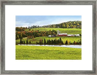 New England Farm Framed Print by Betty LaRue